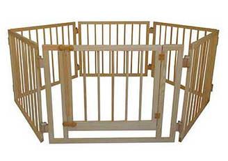 Детский деревянный манеж 72 см 6 секций с воротами Сосна МД6, КОД: 1548865