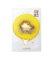 Тканевая маска для лица с экстрактом киви The Saem Natural Gold Kiwi Mask Sheet 21 мл 88061641588, КОД: