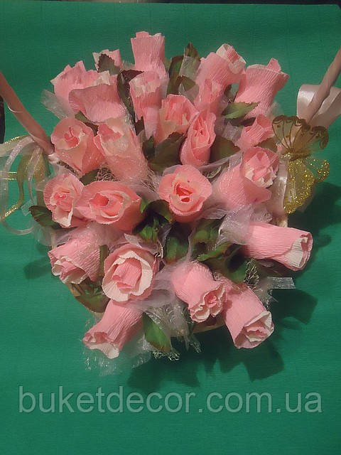 """Букет из конфет""""Шляпка с розами"""""""