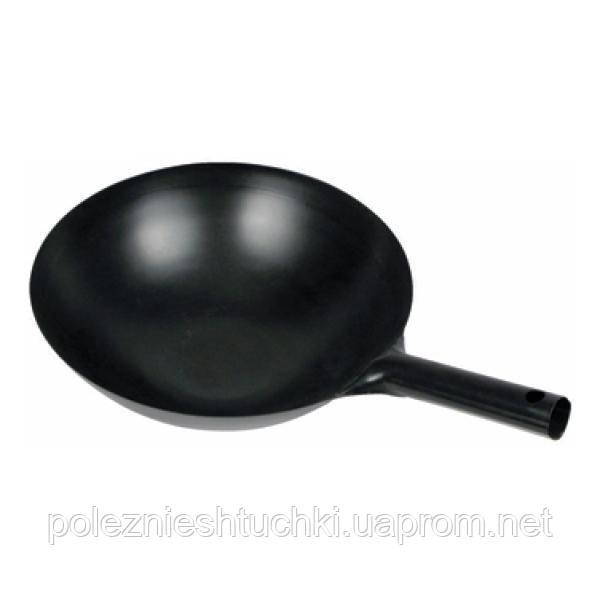 Сковорода WOK-34 углеродная сталь 35 см Winco