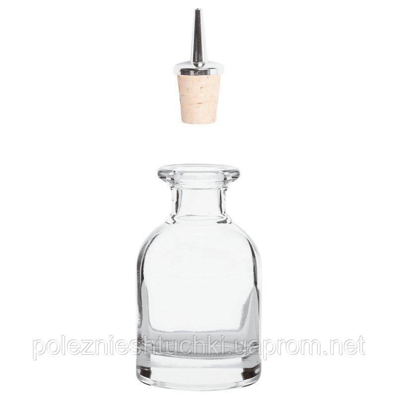 Бутылка барная для настоек 100 мл. без гейзера, стеклянная Paderno