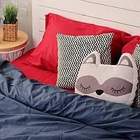 Комплект постельного белья Хлопковые Традиции Евро 200x220 Красно-синий PF030евро, КОД: 353933