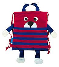 Сумка-мешок детская 1 Вересня SB-13 Little bear Красно-синий 556789, КОД: 1259075