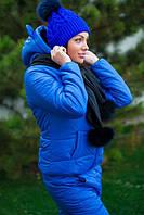 Теплый костюм в наборе с шарфиком с натуральными бубонами 4 цвета