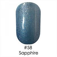 Гель лак Naomi №58 (sapphire), 6ml