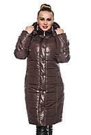 Женская зимняя куртка удлинённая., фото 1