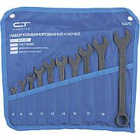 Набор ключей комбинированных Сибртех 6-22 мм 10 штук CrV фосфатированные 15475, КОД: 1685206