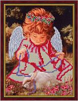 """Схема для вишивки бісером """"Янголятко з кроликом"""""""