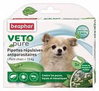 Beaphar (Беафар) Краплі проти бліх для собак до 15кг Spot On БІО (3 піпетки)