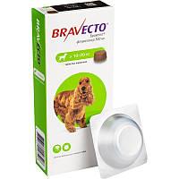 Жувальна таблетка для захисту собак від кліщів і бліх Бравекто 500мг