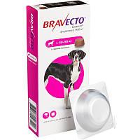 Жувальна таблетка для захисту собак від кліщів і бліх Бравекто 1400мг