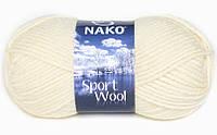 Пряжа полушерсть для ручного вязания нако спорт вул