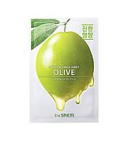 Питательная тканевая маска для лица The Saem Natural Mask Sheet Olive 21 мл 8806164158869, КОД: 1839607