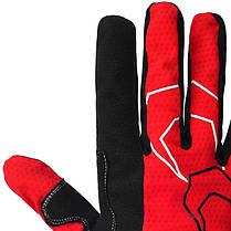 Велорукавички PowerPlay 6556 С XXL Червоні (6556C_XXL_Red), фото 3