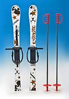 Лыжи детские. 90 см комплект (лыжи,палки,крепление)