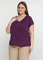 Женская футболка Mark 52-56 Фиолетовая 8033015-1Х, КОД: 1476584