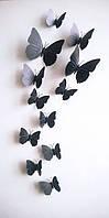 Бабочки для декора 12 штук. МАГНИТ+ЛИПУЧКА