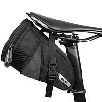 Сумка велосипедная West Biking 0707228 1,1L под седло Black (5071-15106a), фото 2