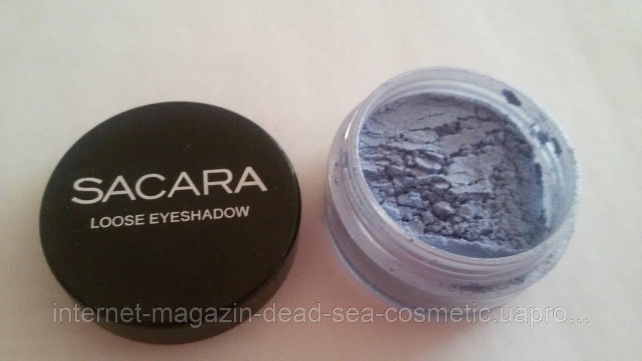 Минеральные тени для век Sacara № 006 синие небо