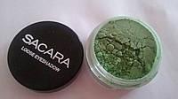 Минеральные тени для век Sacara № 13 зеленый лес