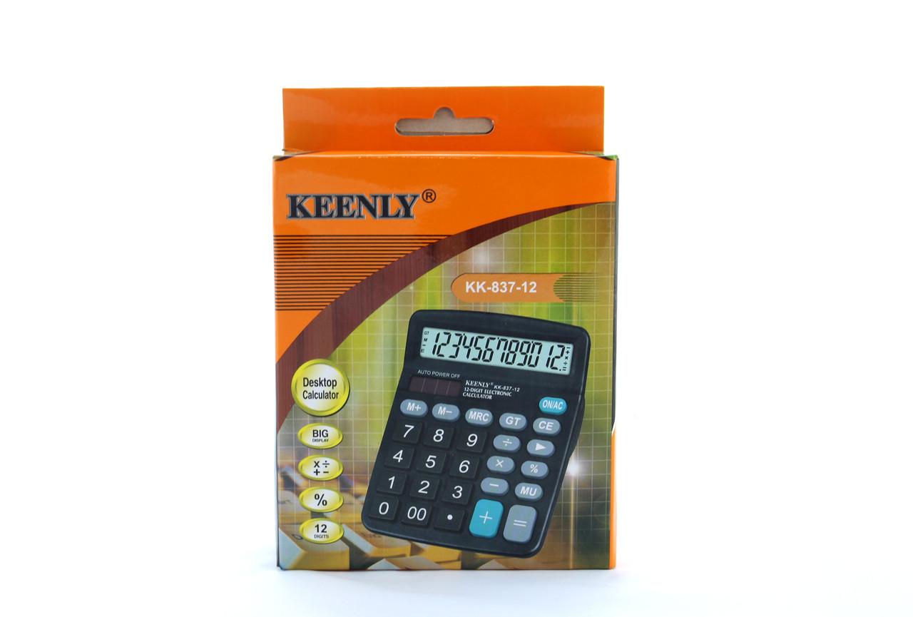 Калькулятор, KEENLY KK-837-12, супер калькулятор.процентный калькулятор