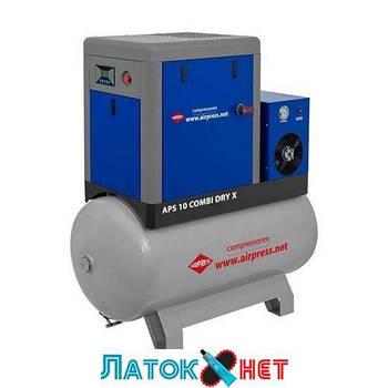 Компрессор APS 10 Combi Dry X с осушителем и ресивером 500л 369010 Airpress