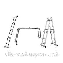 Лестница многоцелевая 4×3 (алюминиевая) FLORA (5031314)