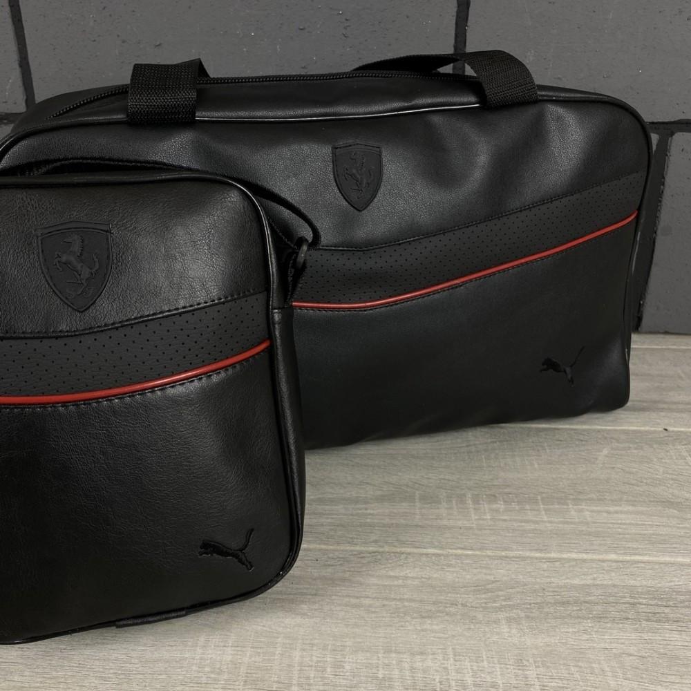 Комплект сумка Puma черная + барсетка Puma