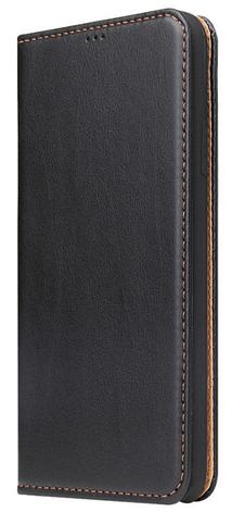 Кожаный чехол-книжка для iPhone 11 (6.1'') черный, фото 2