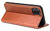 Кожаный чехол-книжка для iPhone 11 (6.1'') черный, фото 3