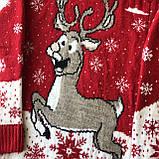 Теплый новогодний свитер на мальчика и девочку 19. Размер 6 лет, 8 лет, 12 лет, фото 2