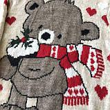 Теплый новогодний свитер на девочку 16. Размер 6 лет, фото 2