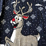 Теплый новогодний свитер на девочку и мальчика 6. Размер 2 года (92 см), 3 года, 4 года, 5 лет, фото 2