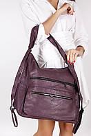 Сумка-рюкзак женская сиреневая AAA 1484-1, фото 1