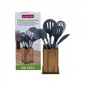 Набор кухонных принадлежностей Kamille в  подставке 7 предметов KM-5034