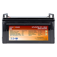 Акумулятор LP LiFePO4 12V - 60 Ah (BMS 50A/25А) пластик