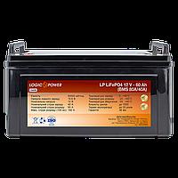 Акумулятор LP LiFePO4 12V - 60 Ah (BMS 80A/40А) пластик