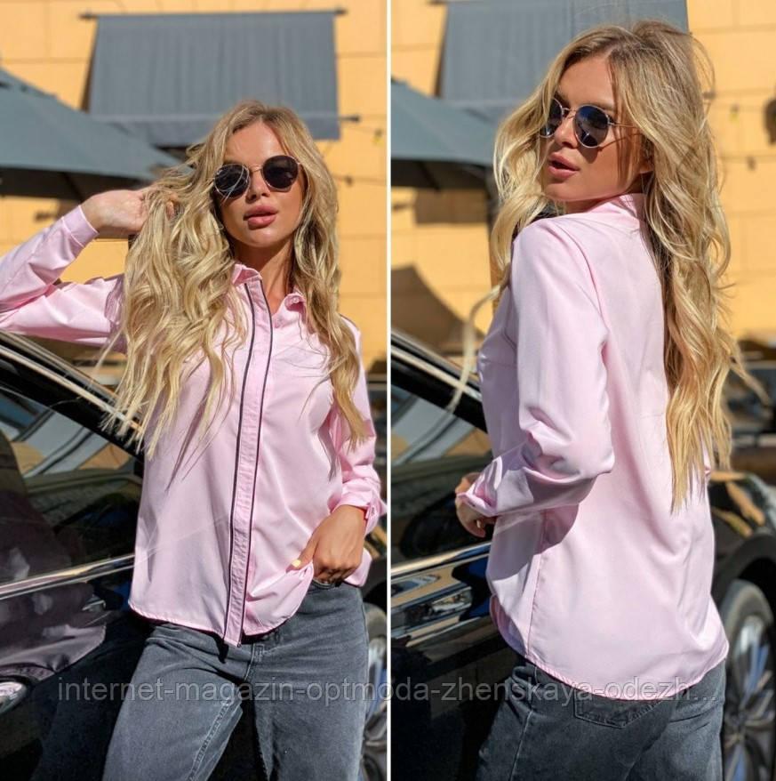 """Женская деловая рубашка батал с длинным рукавом """"Jasmine"""""""