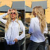 """Женская деловая рубашка батал с длинным рукавом """"Jasmine"""", фото 5"""
