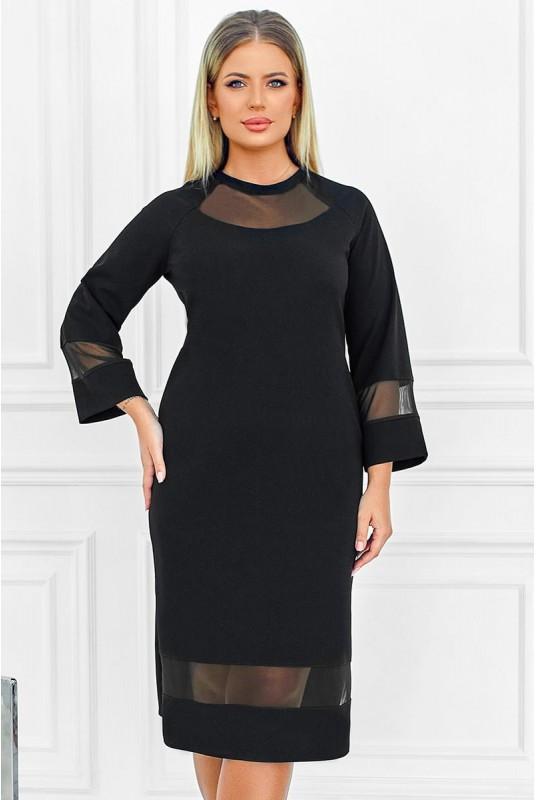 Красивое женское платье черного цвета больших размеров