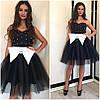 Платье с пышной юбкой,крупным банком и жемчугом, фото 2