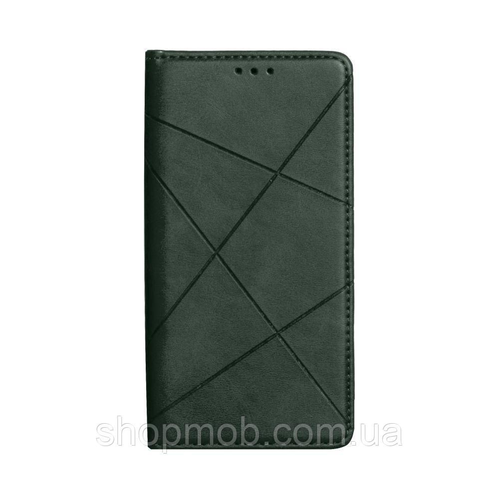 Чехол-книжка Business Leather for Samsung A01 / M01 Цвет Зелёный