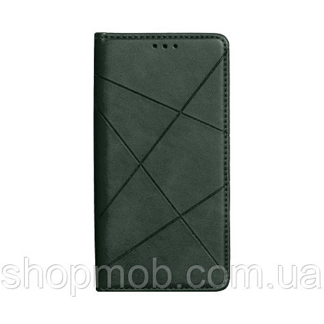 Чехол-книжка Business Leather for Samsung A01 / M01 Цвет Зелёный, фото 2