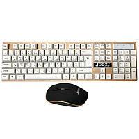 Комплект JEDEL RWS7000 клавиатура + мышь компьютерная беспроводная White/Black