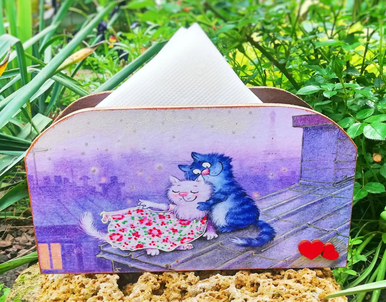 Салфетница Коты на крыше модель 5