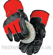 Перчатки комбинированные кожаные