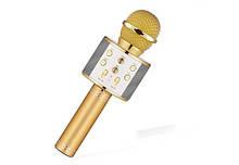 Караоке микрофон WS-858 Белый+Золотой