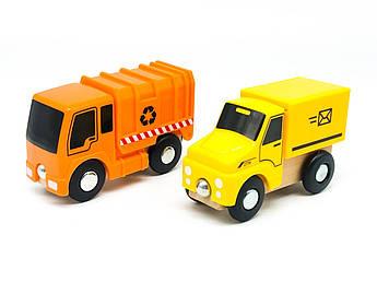 Набор машинок для деревянной железной дороги PlayTive Ikea Brio Почтовый сервис, мусоровоз