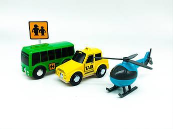 Набор машинок для деревянной железной дороги PlayTive Ikea Brio Вертолет