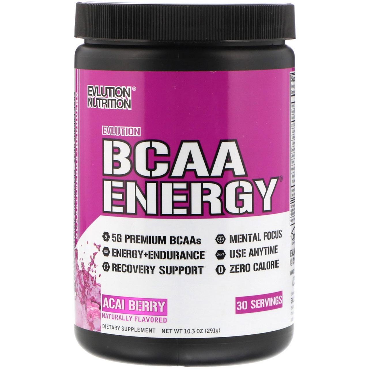 EVL Аминокислоты BCAA ENERGY 291 г Вкус: acai berry